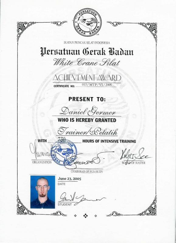 Trainer Zertifikat