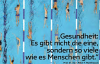Das Titelbild des Bankspiegels 2/2012, viele Menschen schwimmen auf Bahnen